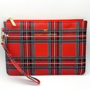 Simply Southern Leather Clutch Tartar Plaid